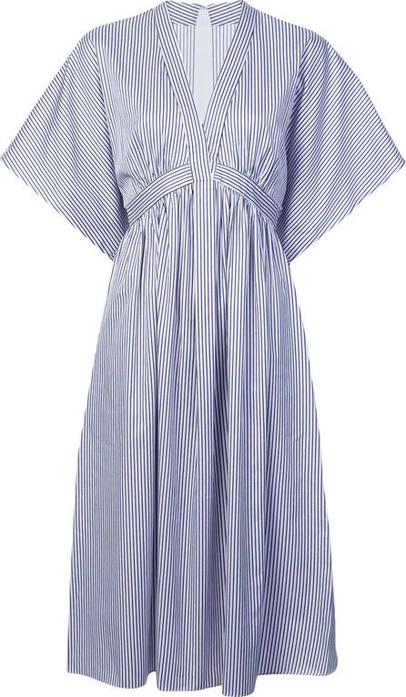Adam Lippes Striped flared midi dress