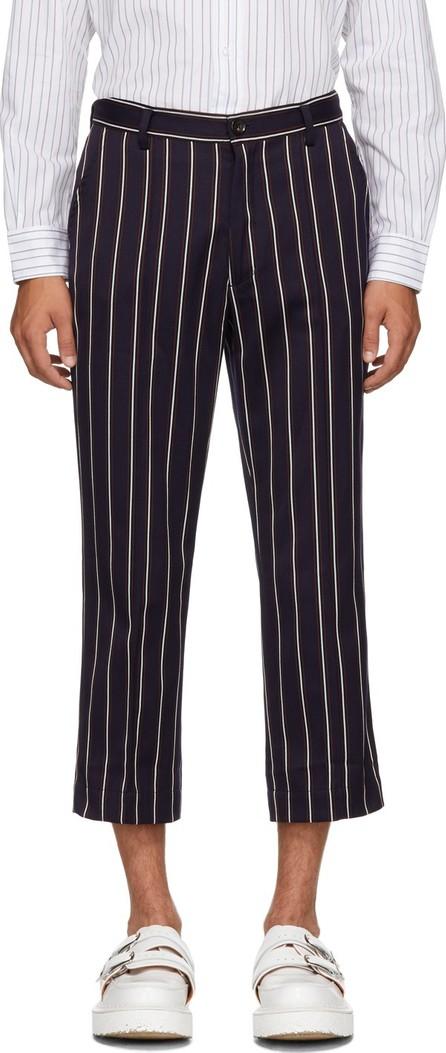Goodfight Navy Striped Permapress Trousers