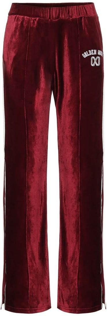 Golden Goose Deluxe Brand Kelly high-rise velvet trackpants