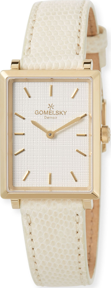 Gomelsky The Shirley 32mm Watch with Ivory Lizard Strap