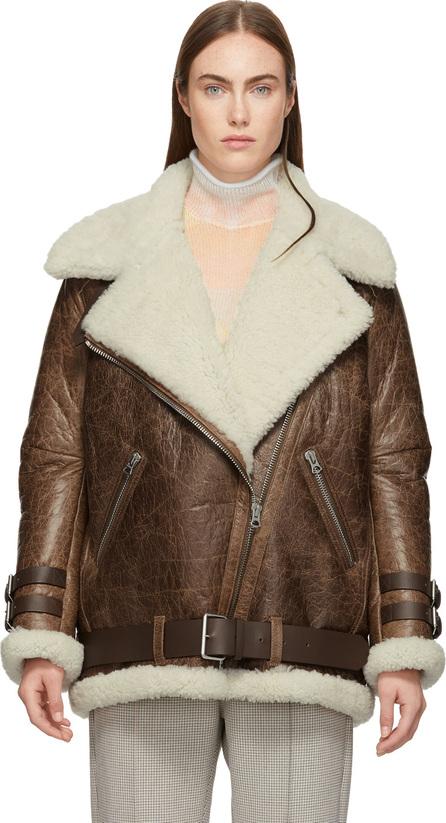 Acne Studios Brown Vintage Velcocité Jacket