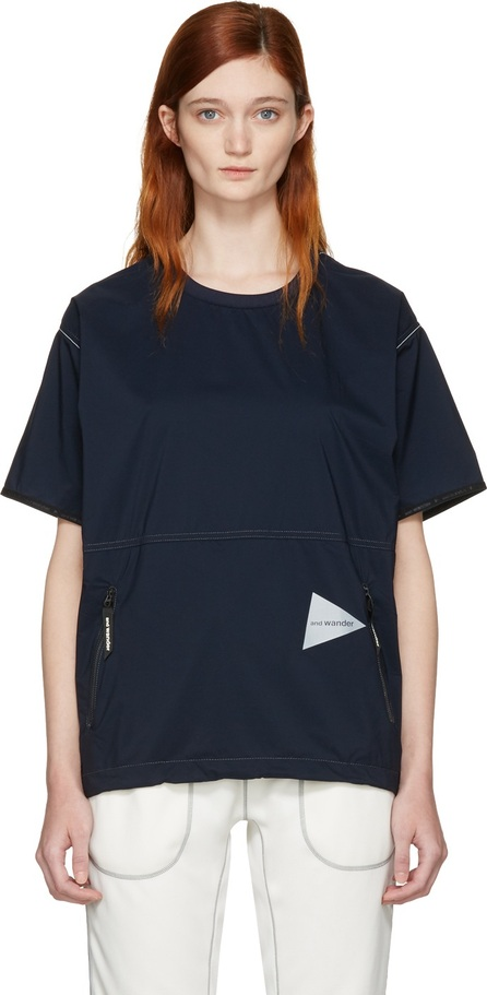 and Wander Navy Pertex Wind T-Shirt