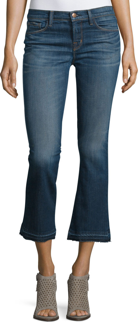 J BRAND Selena Cropped Boot-Cut Jeans, Blue