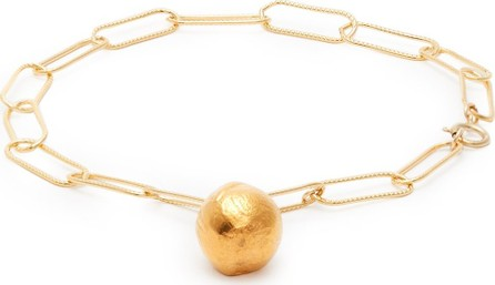 Alighieri Ball-charm 24kt gold-plated anklet