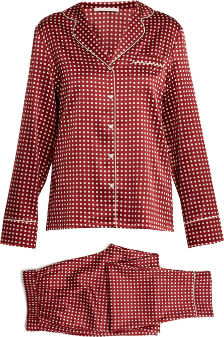 Stella McCartney Polka-dot print stretch-silk pyjama set