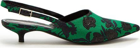 Erdem Farida slingback point-toe brocade pumps