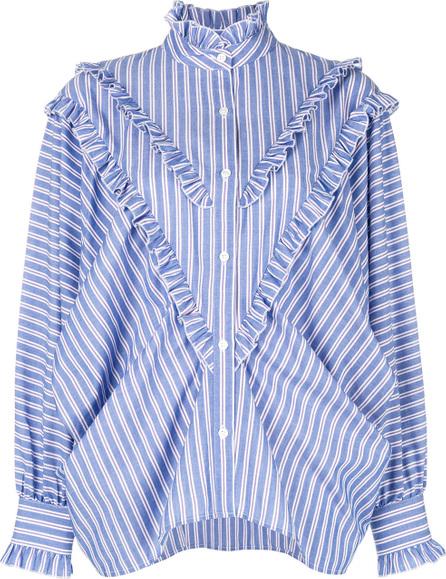 Alexa Chung Striped shirt