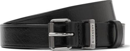 Givenchy 3cm Black Leather Belt