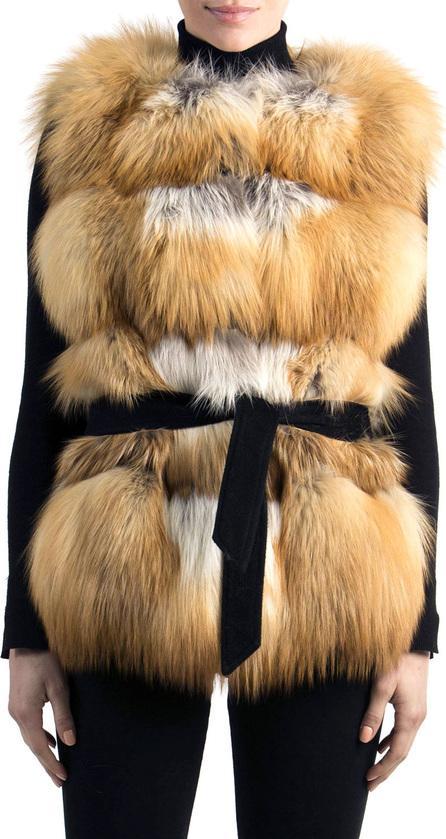 Gorski Belted Fox Fur Vest