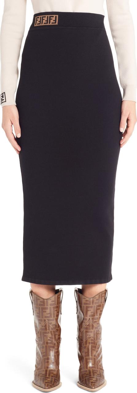 Fendi Logo Waist Pencil Skirt