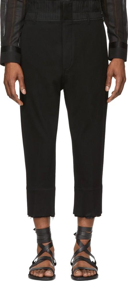 Ann Demeulemeester Black Lainecotton Trousers
