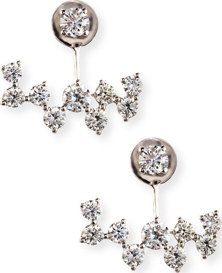 Bessa 18K White Gold Diamond Jacket Earrings
