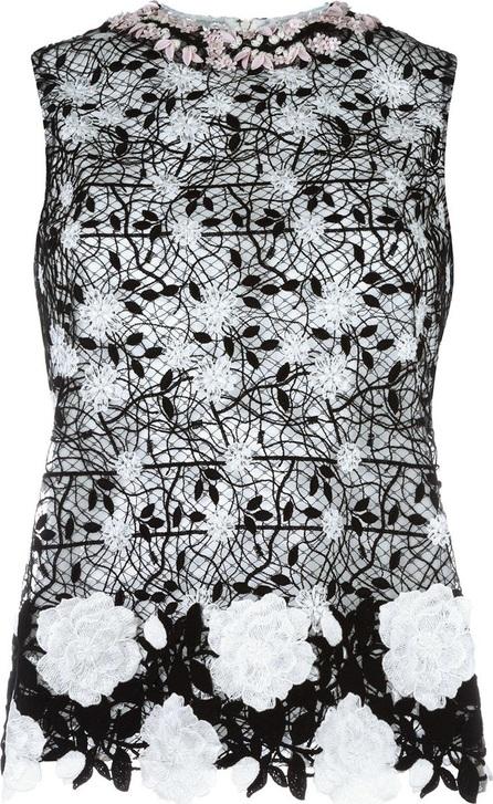 Giambattista Valli floral embroidery top