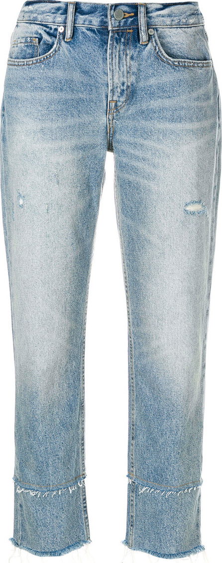 All Saints Distressed straight-leg jeans