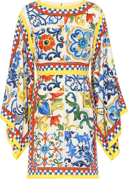 Dolce & Gabbana Printed silk minidress