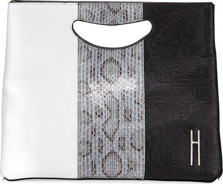 Hayward 1712 Basket Colorblock Clutch Bag