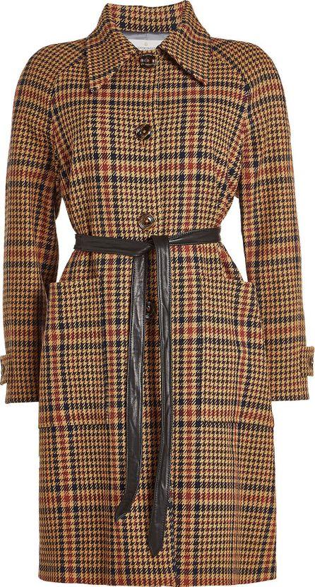 Golden Goose Deluxe Brand Printed Coat with Fleece Wool