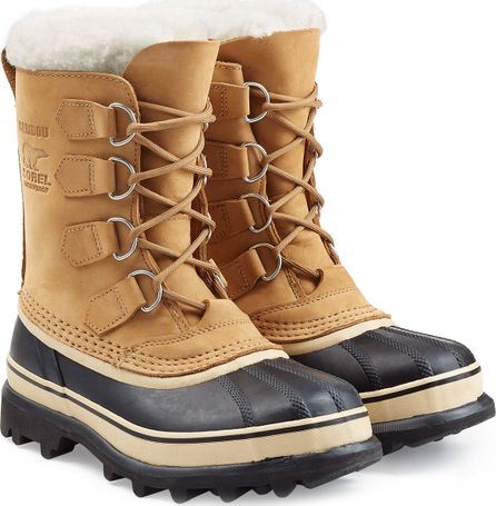 Sorel Caribou Suede and Rubber Short Boots with Removable Lining