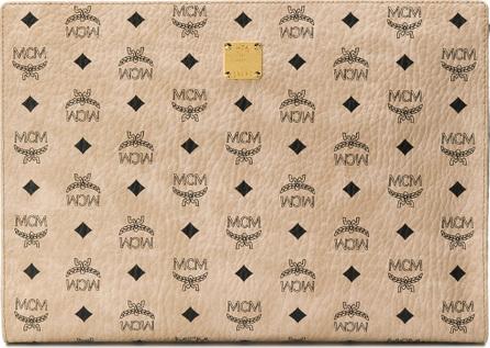 MCM Logo print clutch bag