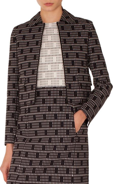 Akris Punto Short Lace Jacquard Zip-Front Jacket