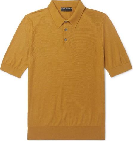 Dolce & Gabbana Slim-Fit Knitted Silk Polo Shirt