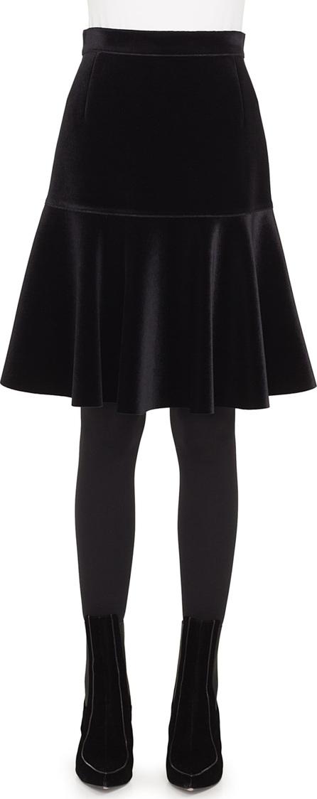 Akris Punto Scuba Velvet Bell Skirt