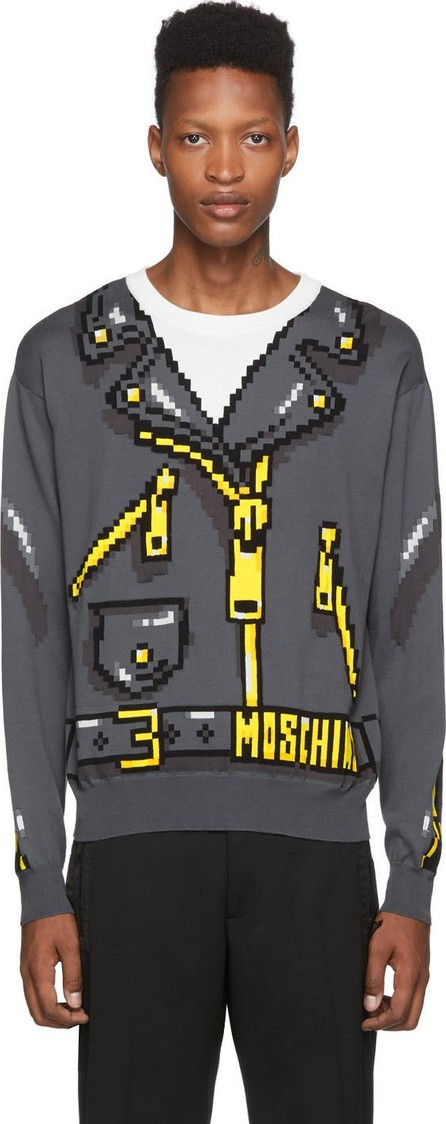 Moschino Grey The Sims Edition Pixel Sweater