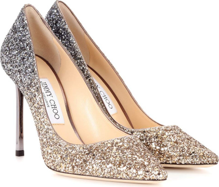 Jimmy Choo Exclusive to mytheresa – Romy 100 glitter pumps