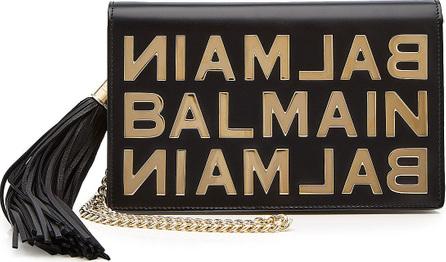 Balmain Embellished Leather Clutch