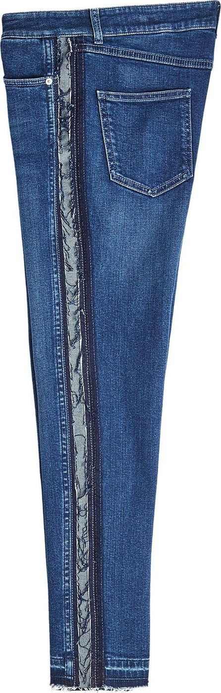 Alexander McQueen Skinny Jeans with Distressed Trims