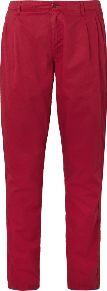 Aspesi Slim-Fit Tapered Garment-Dyed Cotton-Twill Chinos