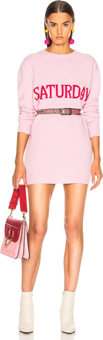 Alberta Ferretti Saturday Crewneck Sweater Dress