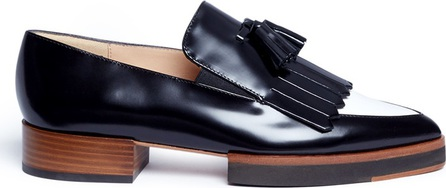 Fabio Rusconi Tassel colourblock leather kiltie loafers