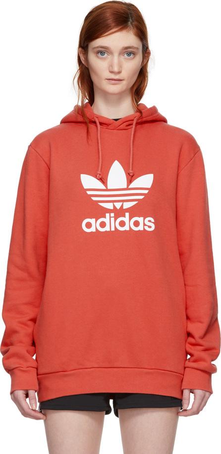 Adidas Originals Orange Trefoil Hoodie