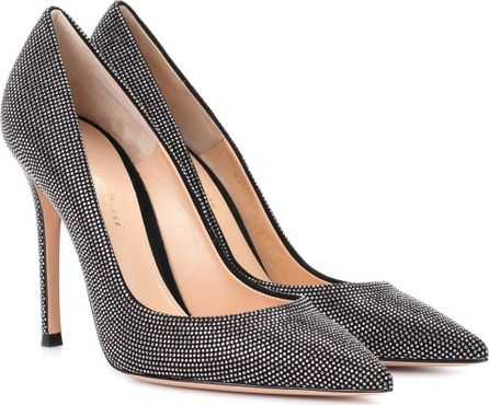 Gianvito Rossi Lennox strass suede pumps