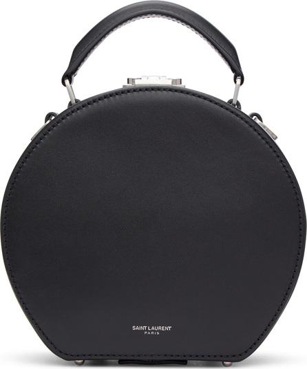 Saint Laurent Black Mica Small Hat Bag