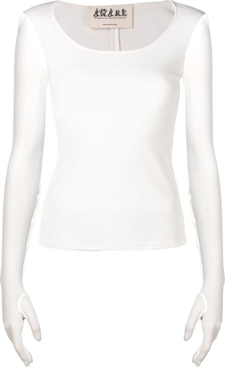 A.W.A.K.E Scoop neck gloved top