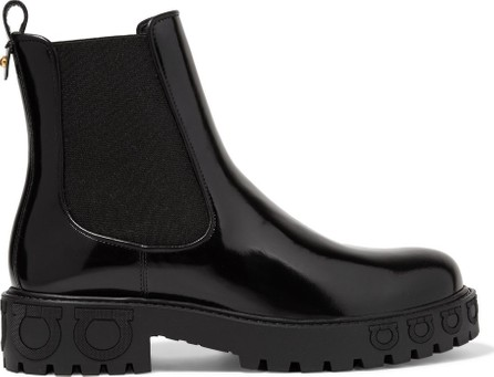 Salvatore Ferragamo Varsi glossed-leather Chelsea boots