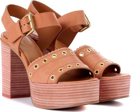 See By Chloé Leather plateau sandals