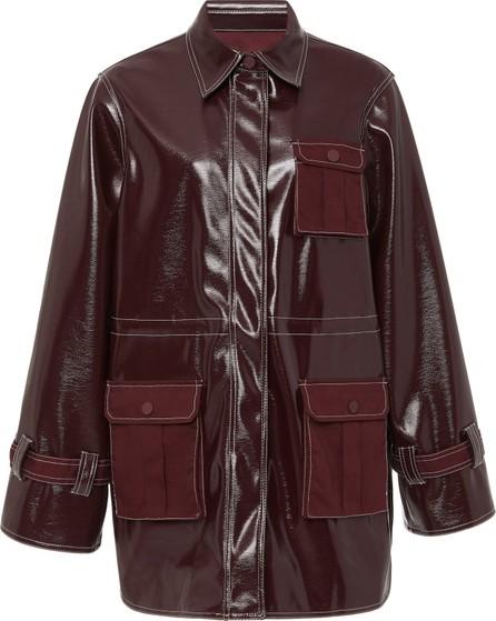 Ganni Faux Patent Leather Jacket