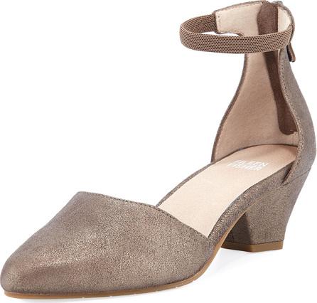 Eileen Fisher Just Metallic Leather Low-Heel Pumps