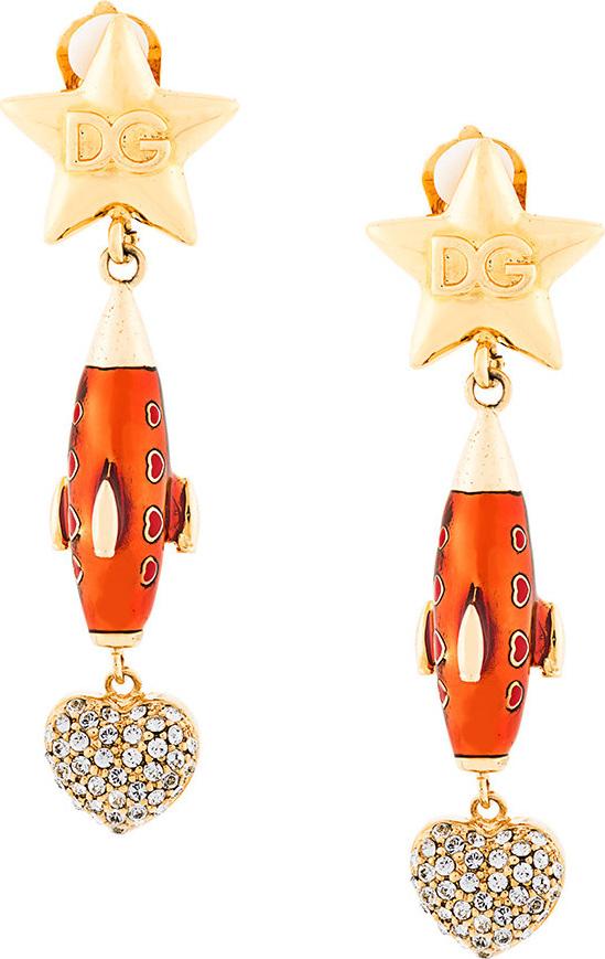 Dolce & Gabbana - Crystal embellished drop earrings