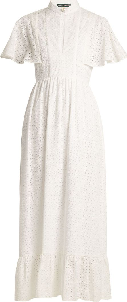 Alexachung Cape-back broderie-anglaise cotton dress