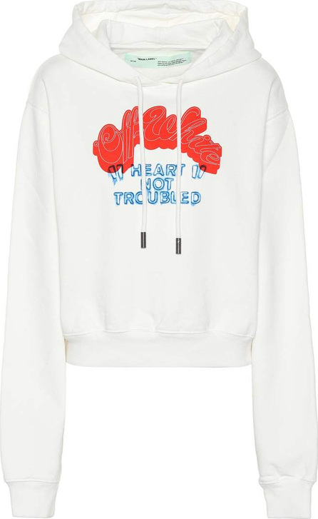 Off White Heart Not Troubled cotton hoodie