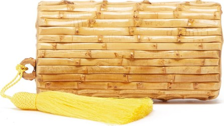 Glorinha Paranagua Tania tassel-embellished bamboo clutch