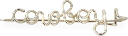Atelier Paulin Personalized 15-Letter Wire Brooch, Silver