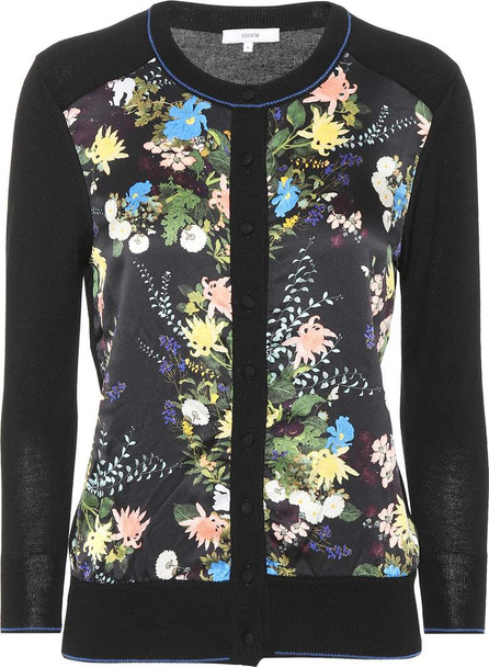 Erdem Wool and silk-blend floral cardigan