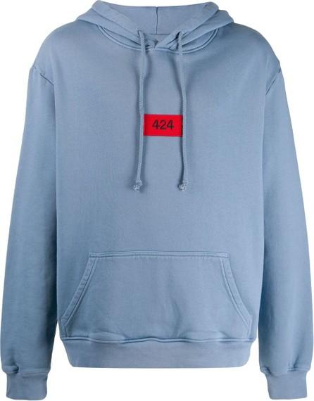 424 Fairfax Long sleeve logo hoodie