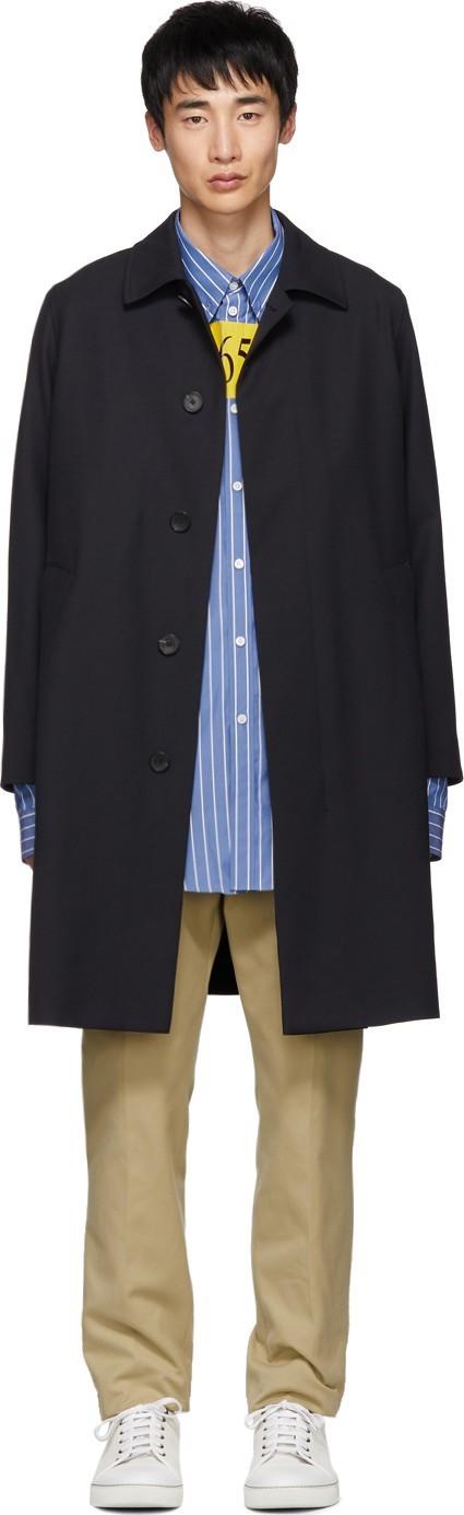 BOSS Hugo Boss Navy Wool Gustav Coat