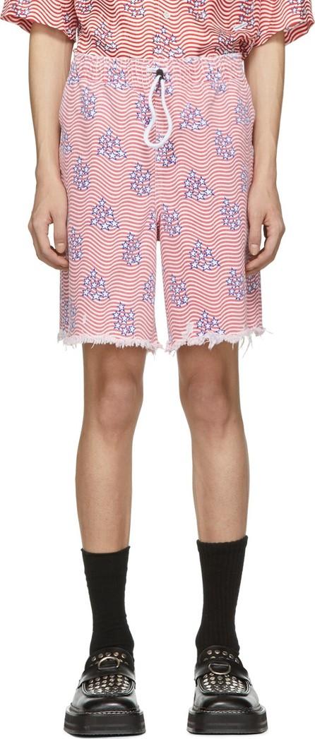 Alexander Wang Red & White Denim Stars & Stripes Flag Shorts